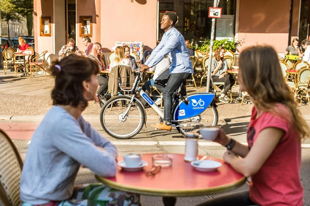nextbike fahren Café Sommer