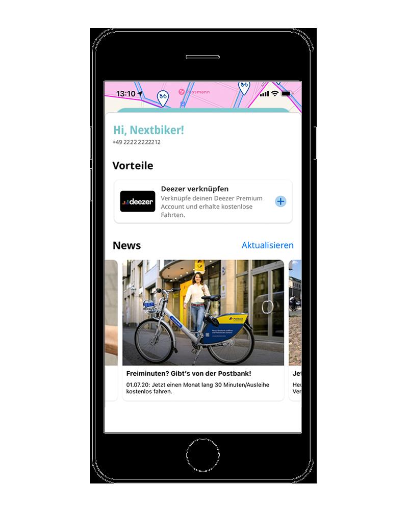 Postbank News in der nextbike App